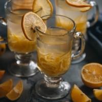 Homemade citron tea using meyer lemons