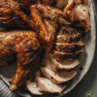 Charved whole chicken