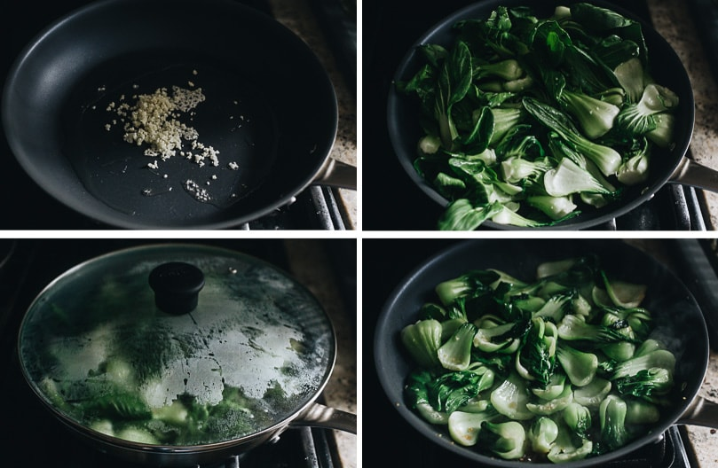 How to stir fry baby bok choy step-by-step
