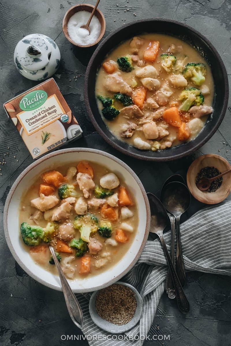 Creamy chicken sweet potato stew