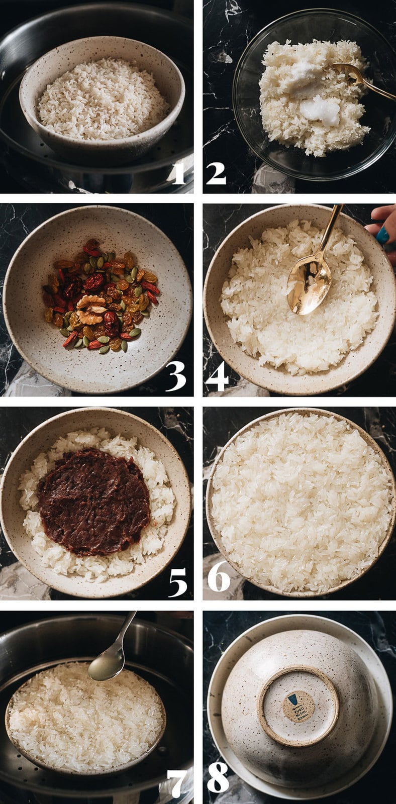 Eight treasure rice cooking step-by-step