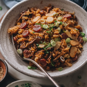 Instant Pot Chinese sausage rice