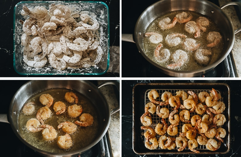 Shally fry shrimp cooking step-by-step