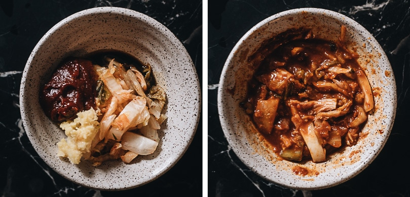 How to make Korean paste for noodle soup