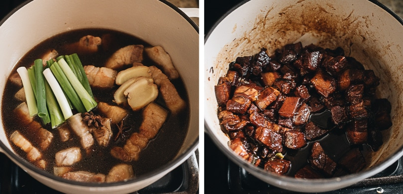 How to braise pork belly step-by-step