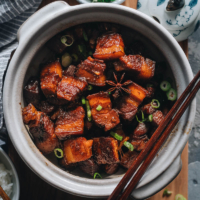 Hong Shao Rou | A Chinese classic. The tender, juicy pork is coated in a glossy sauce that is sticky, savory, sweet, and full of fragrance. It's a perfect meal-prep dish to cook on a weekend and enjoy throughout the week.
