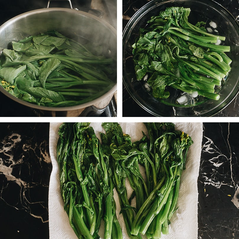 How to blanch choy sum