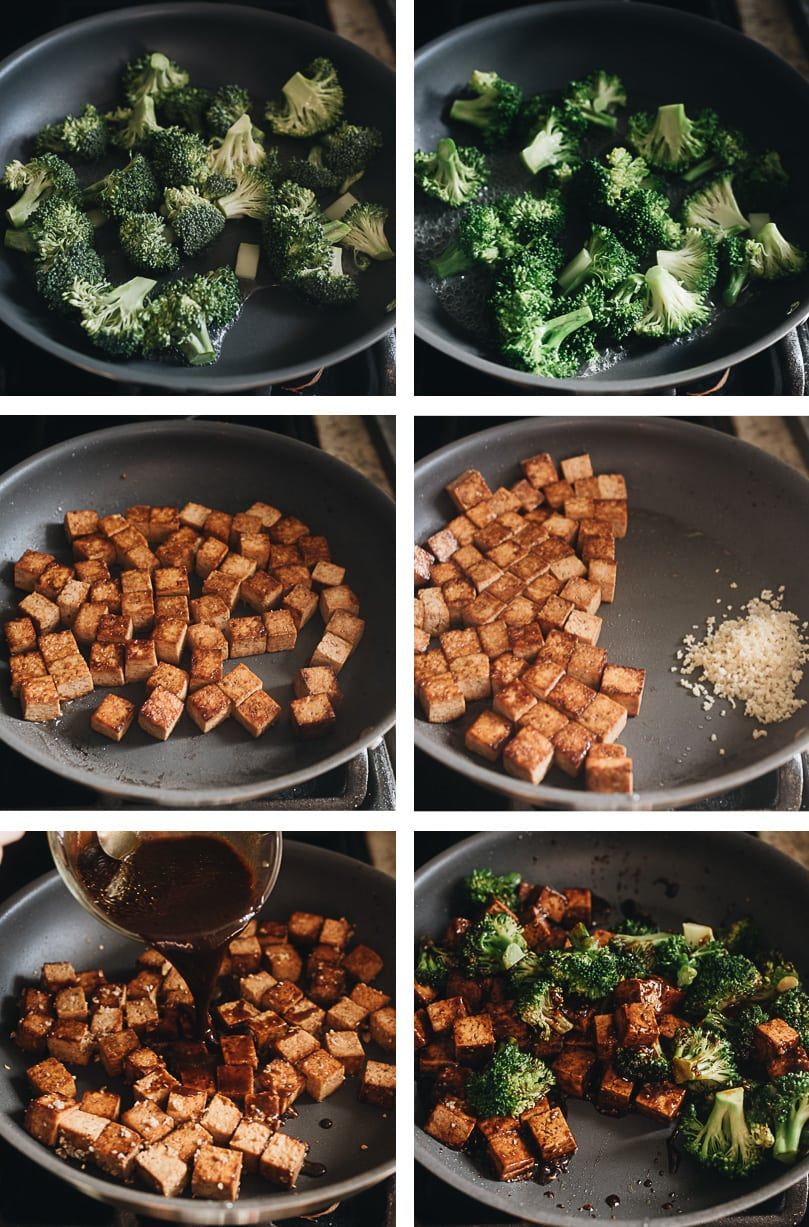 How to make tofu and broccoli cooking step-by-step