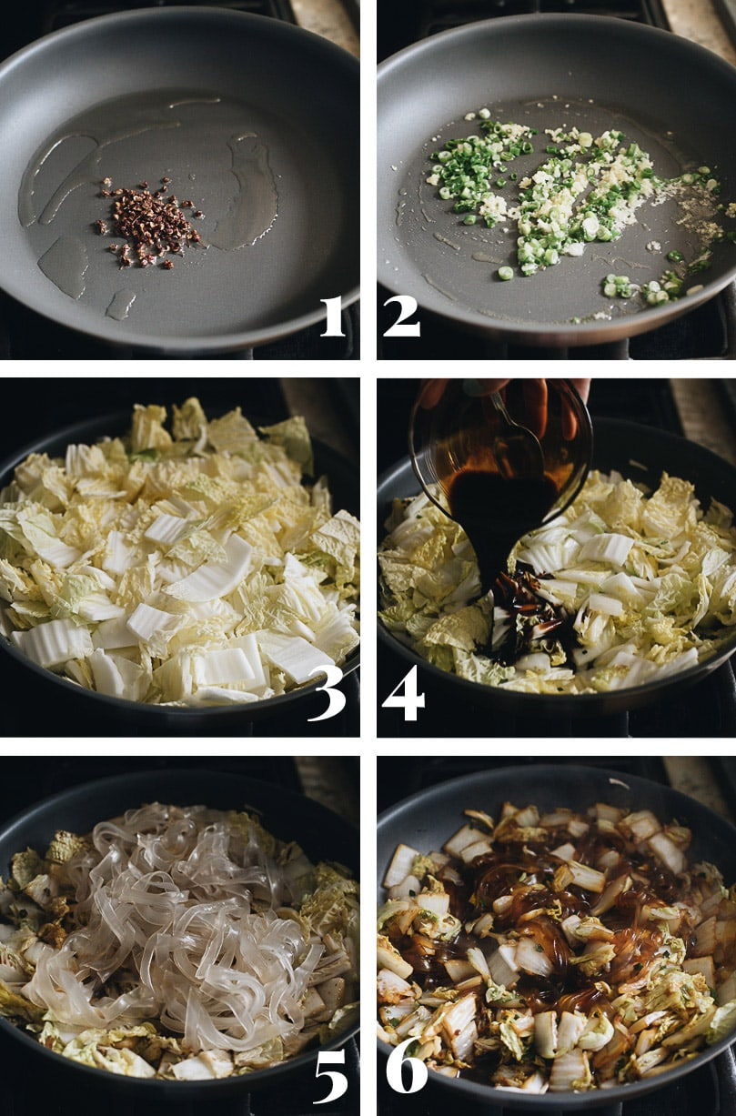 Chinese napa cabbage cooking step-by-step