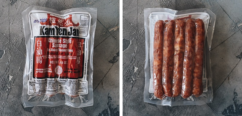 Chinese sausage in package