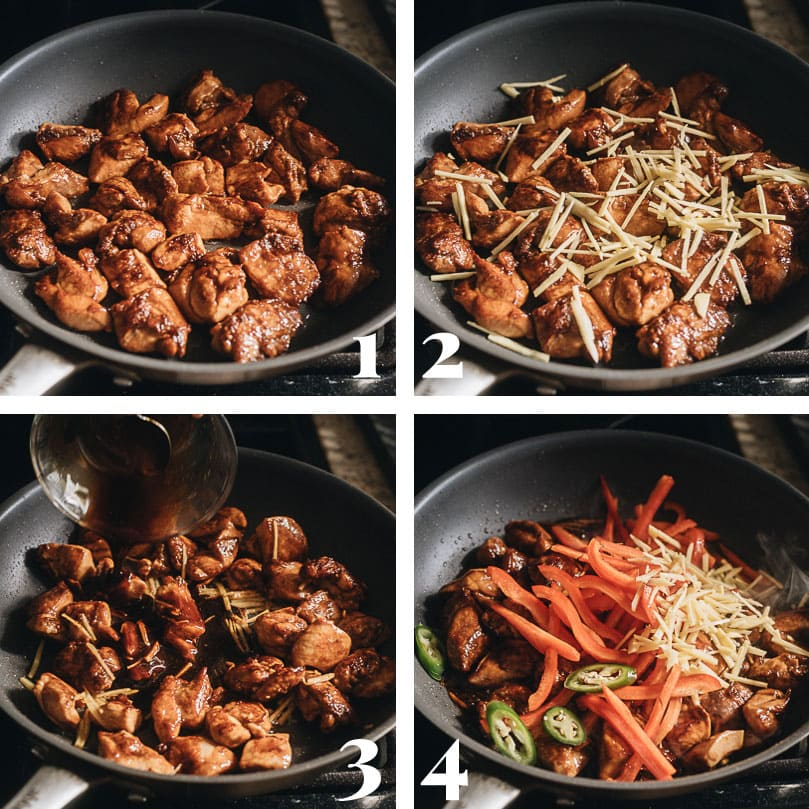 Ginger chicken step-by-step