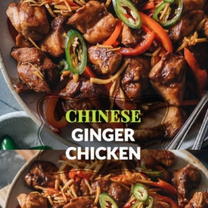 The popular flavors from the local Chinese restaurant are yours with a ginger chicken recipe that's as easy as it gets for savory and sweet taste!