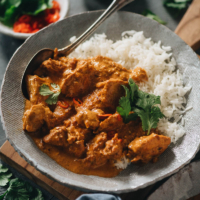 No need to visit your local Indian restaurant to cure your curry cravings! Tender, juicy chicken swims in a thick, rich, and creamy curry sauce that is well balanced. This Instant Pot Butter Chicken gets those authentic flavors just right for a medley of spice and richness that's as real as it gets. {Gluten-Free}
