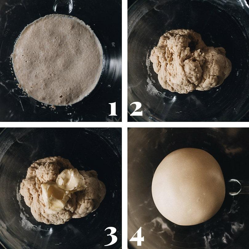 Prepare the bread dough step-by-step