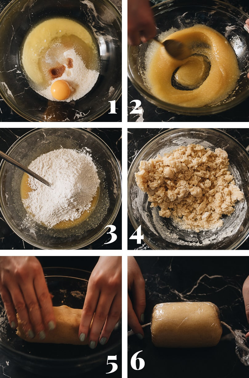 Prepare the topping dough step-by-step