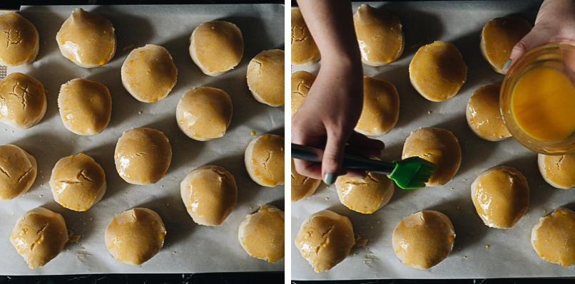 Assemble pineapple buns