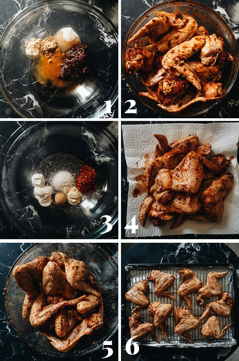 Chinese baked hot wings cooking step-by-step