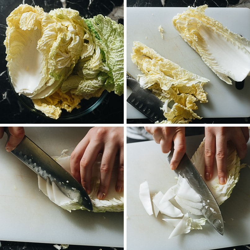 How to cut napa cabbage for stir frying