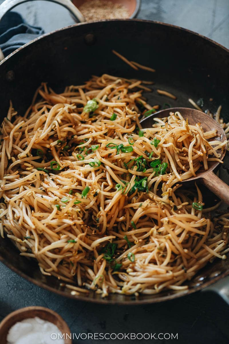 Bean sprout stir fry