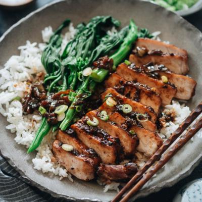 Instant pot pork chops on rice