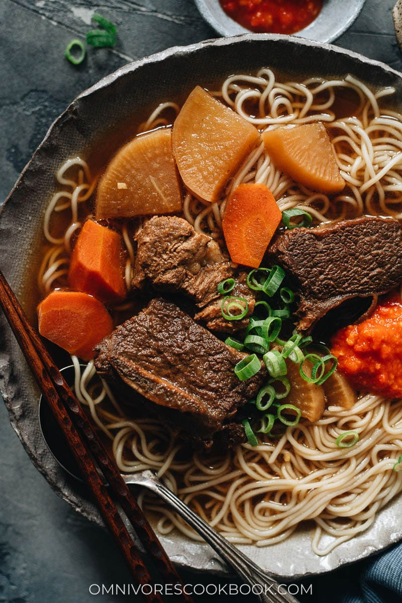 Galbi Jjim on noodle soup