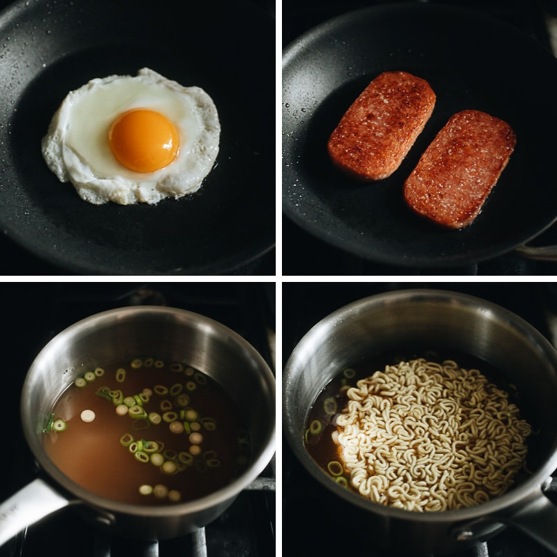 How to make spam ramen step-by-step