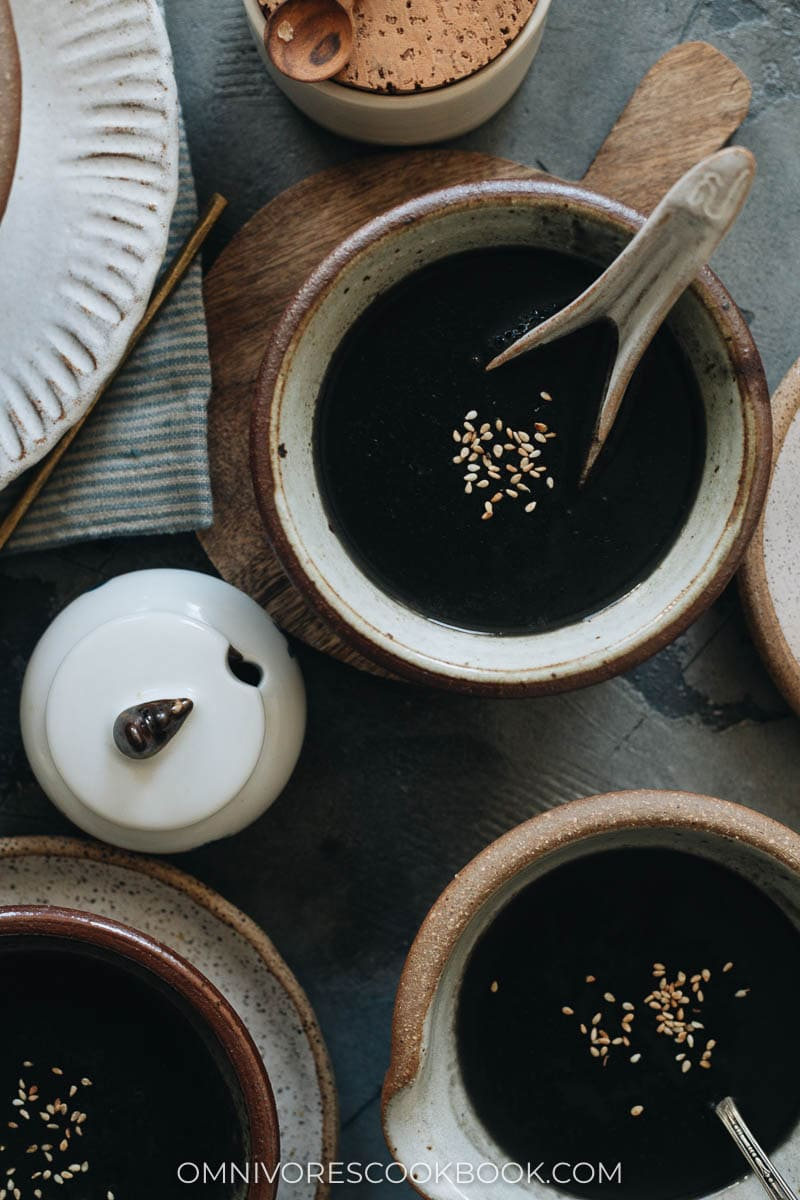Chinese black sesame soup