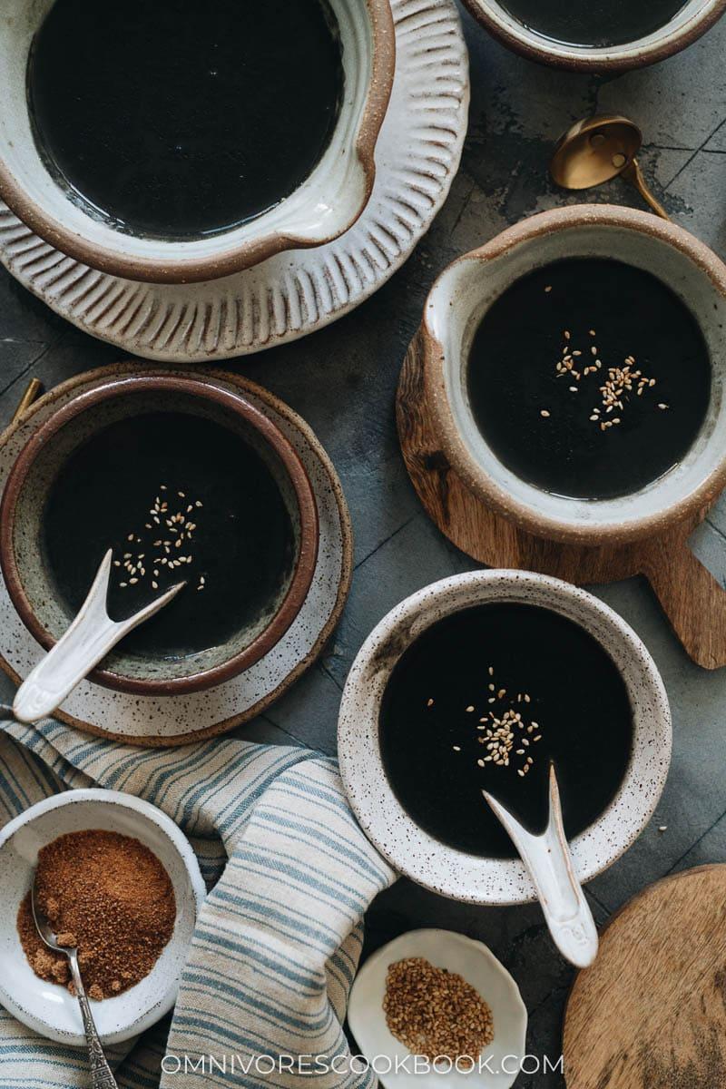 Homemade sesame soup