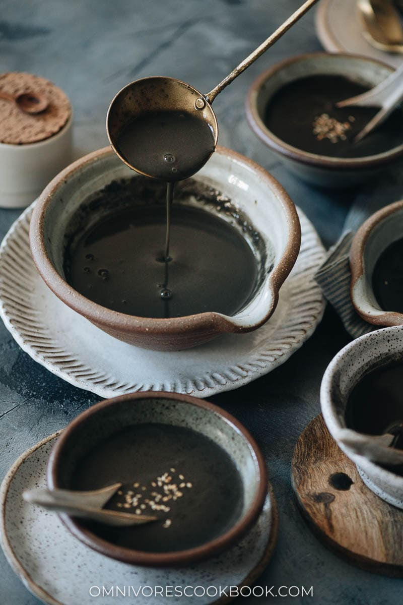 Creamy sweet black sesame soup
