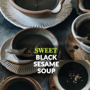 This sweet and nutty black sesame soup makes a surprisingly delicious and nutritious dessert to cap off an Asian-themed meal! {Vegan, Gluten-Free}