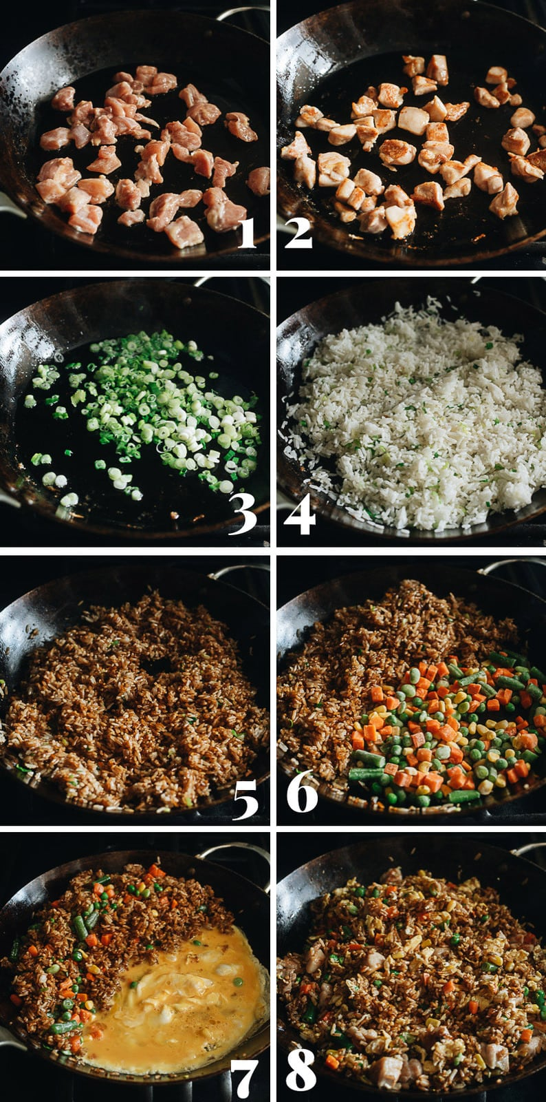 How to make chicken fried rice step-by-step