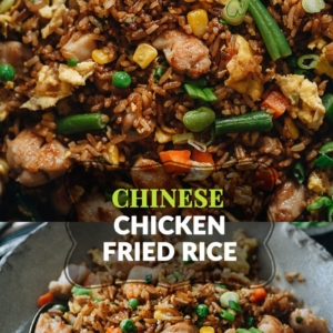 For a super-fast and delicious dinner, my chicken fried rice is there for you, full-flavored and faster than any delivery! The crispy rice is mixed with tender juicy chicken, crunchy veggies, and a savory sauce that tastes even better than the Chinese restaurant version.