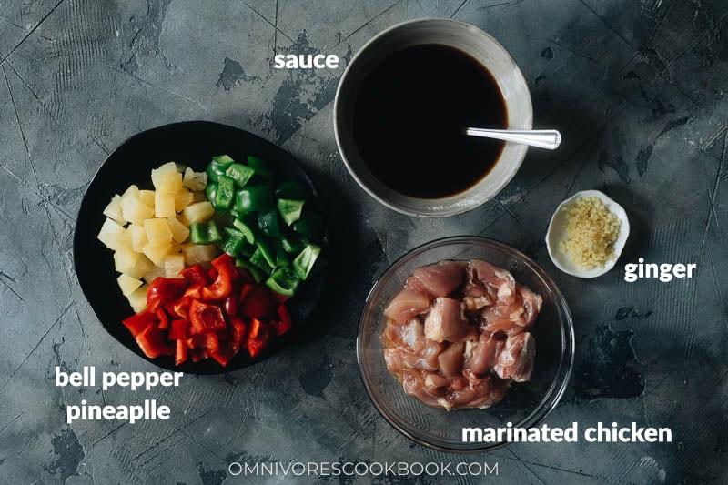 Pineapple chicken ingredients
