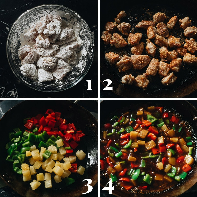 How to make pineapple chicken step-by-step