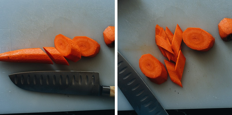 How to slice carrots