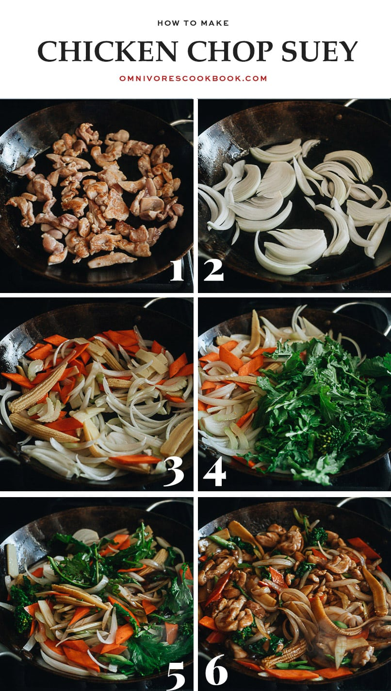 How to make chicken chop suey step-by-step