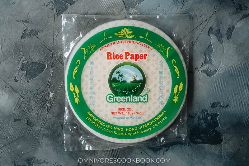 Rice paper package