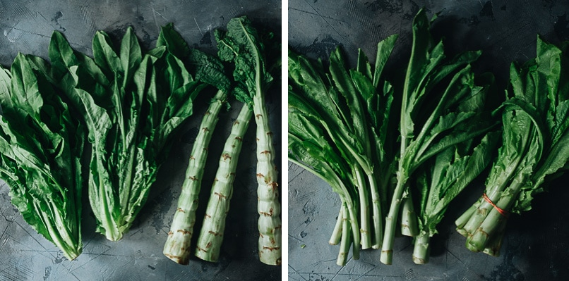 Celtuce stem vs. young celtuce