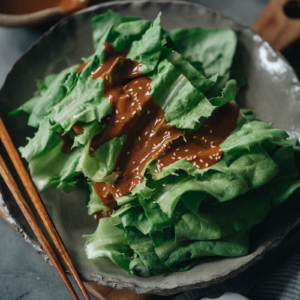 Chinese celtuce leaves salad
