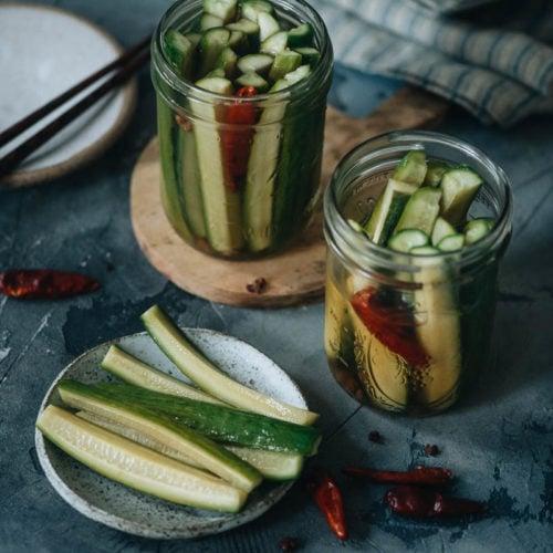 Chinese Pickled Cucumber A Quick Pickle Recipe Omnivore S Cookbook