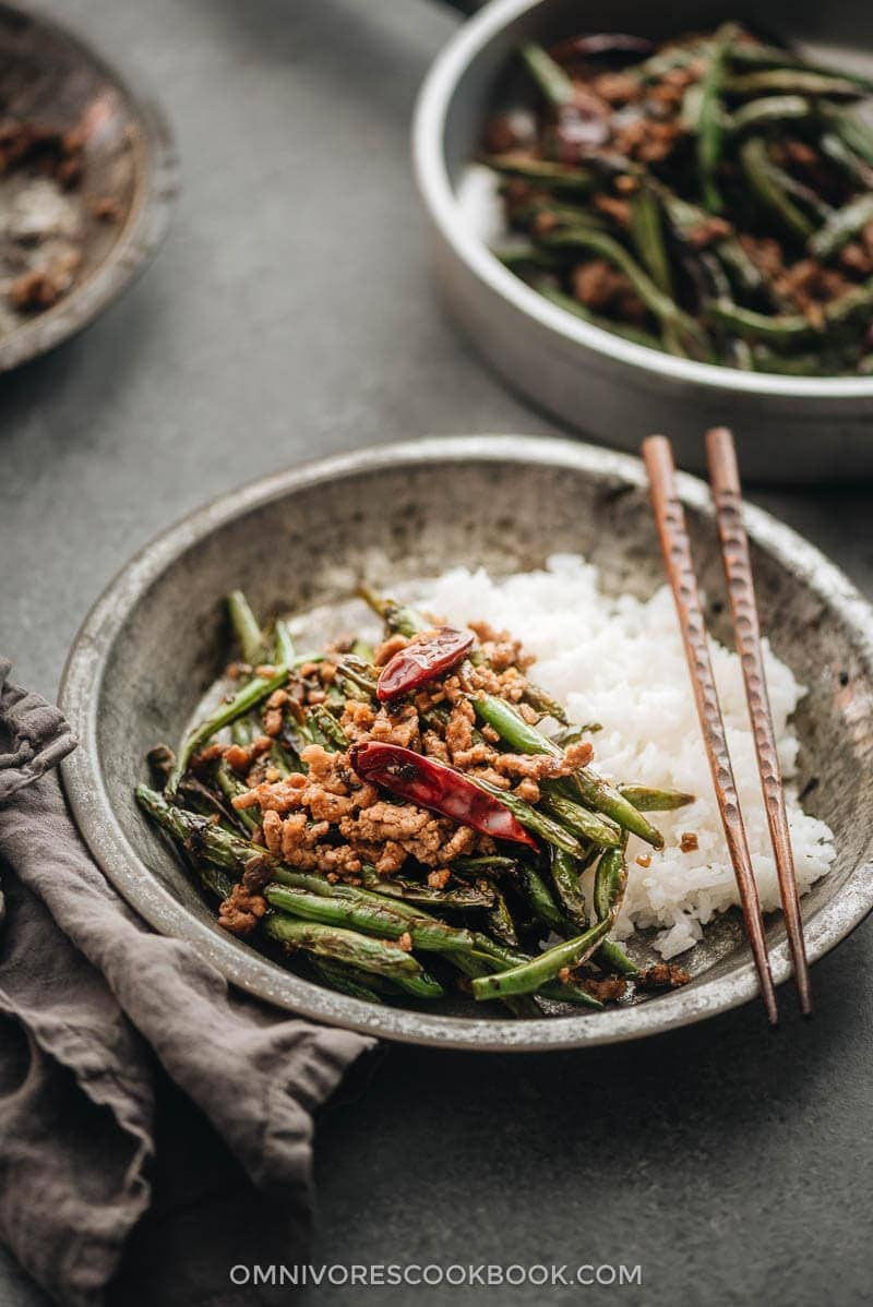 Sichuan Dry Fried Green Beans | 20 Quick and Easy Asian Side Dishes