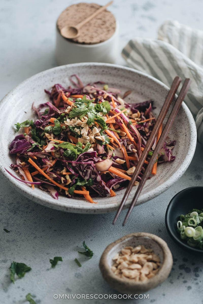 The Best Chinese Coleslaw | 20 Quick and Easy Asian Side Dishes