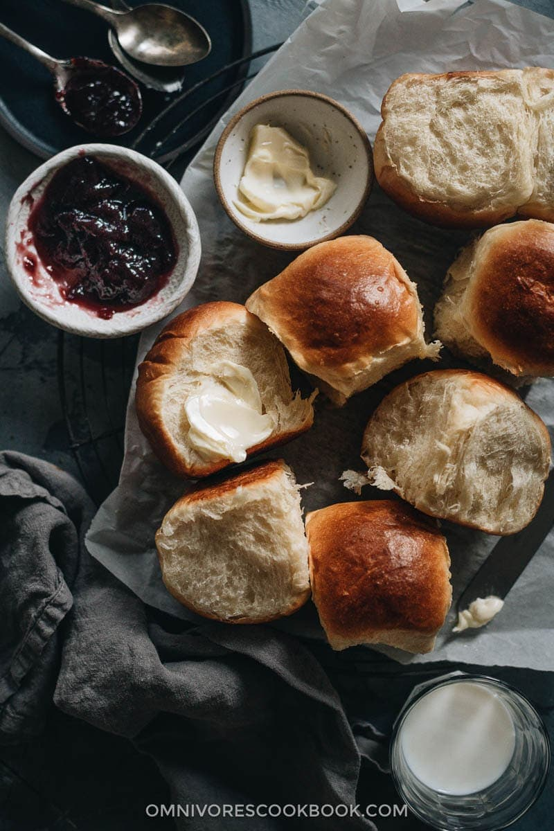 Easy Milk Bread Rolls | 20 Quick and Easy Asian Side Dishes