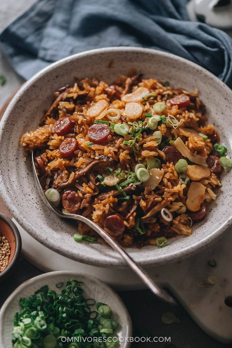 Chinese Sausage Rice | 20 Quick and Easy Asian Side Dishes