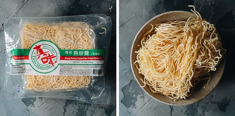 Hong Kong style pan fried noodles