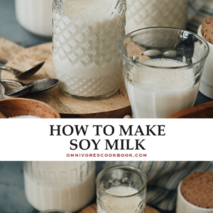 Why buy soy milk when you can learn how to make soy milk yourself? If you're vegan or dairy-free, you don't want to miss this super easy recipe!