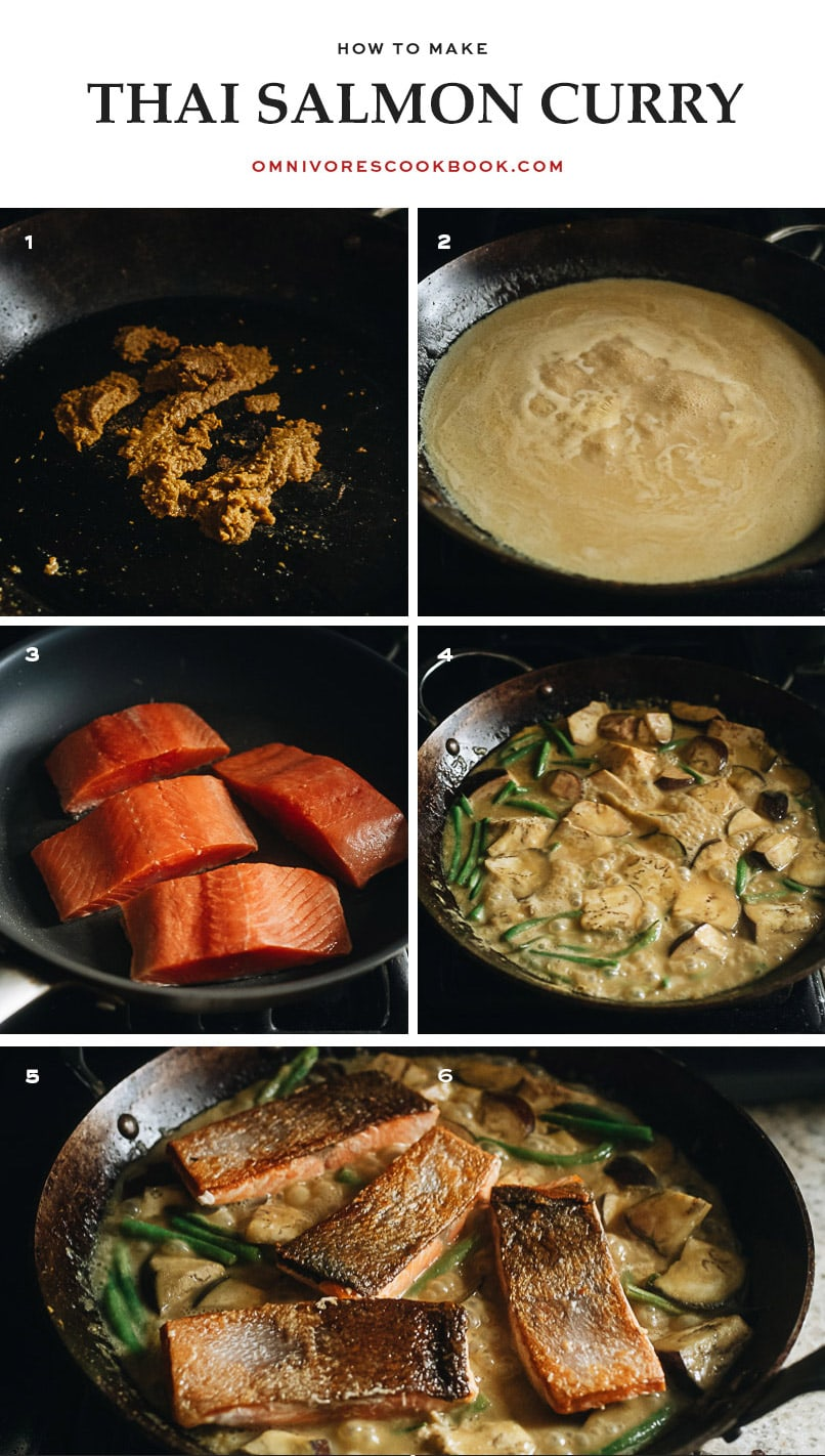 How to make Thai salmon curry step-by-step
