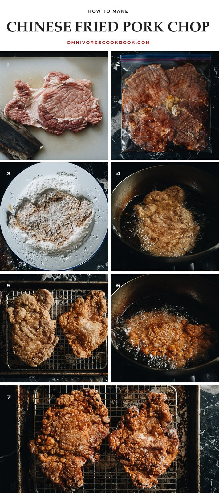How to make Chinese fried pork chops step-by-step