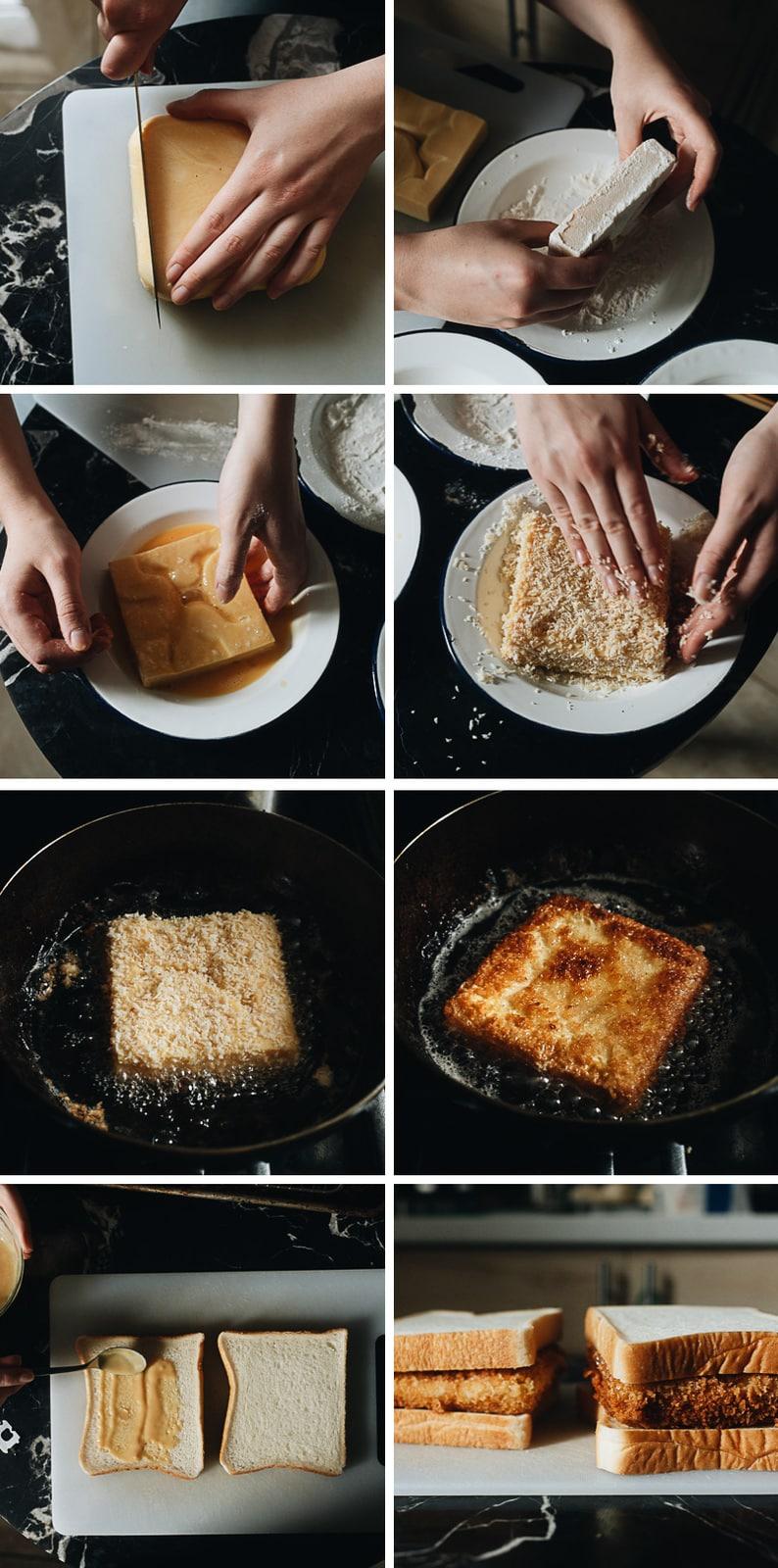 How to make egg katsu sando