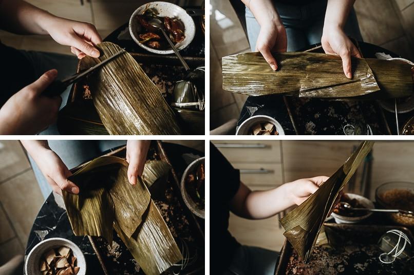 Prepare zongzi leaves